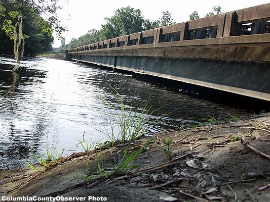 Santa Fe News >> Columbia County Florida: Santa Fe River on the rise