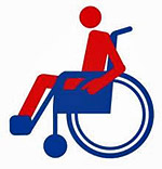 Wheelchair w/person image