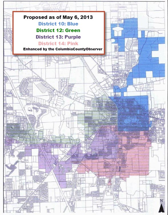 City Redistricting Map