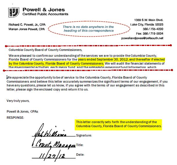 Engagement Letter Audit Template