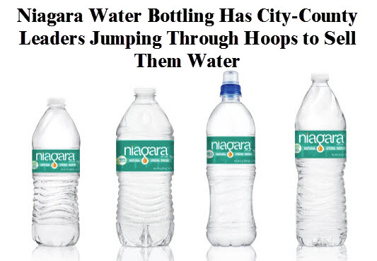 Image: Stew Lilker, Columbia County Observer; Niagara Water Bottling Has City-County Leaders Jumping Though Hoops to Sell Them Water
